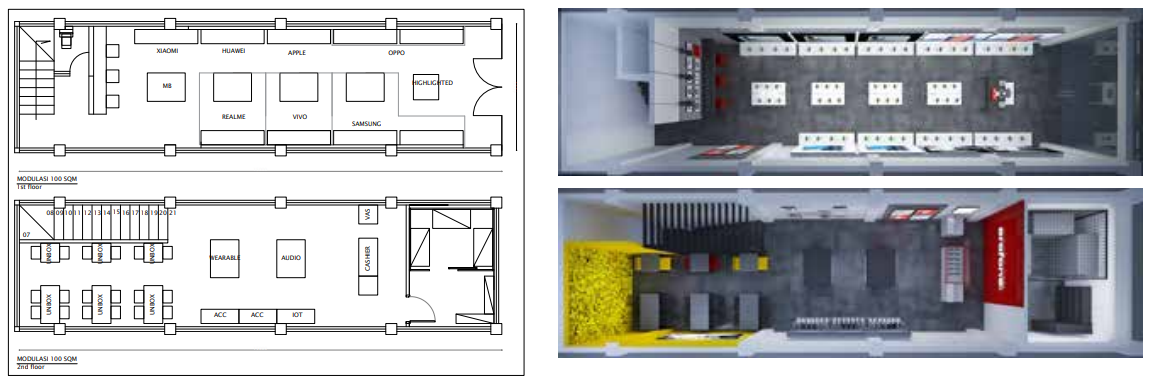 Tata Letak 60 m2 1 lantai